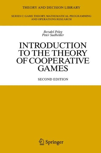 Introduction to the Theory of Cooperative Games (Theory and Decision Library C) pdf epub
