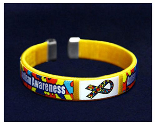Autism Awareness Fabric Bangle Bracelet - Child Size (RETAIL) from Unknown