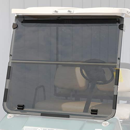 Folding Acrylic Golf Cart Windshield for Club Car DS 1982-2000 Tinted Fold Down Windshield (Windshield For Golf Cart Club Car)