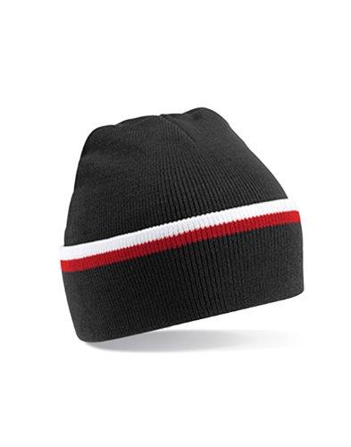 Gorro B471 Beechfield Negro Teamwear WHI Unisex Única FNA Talla q1q6xBwHC