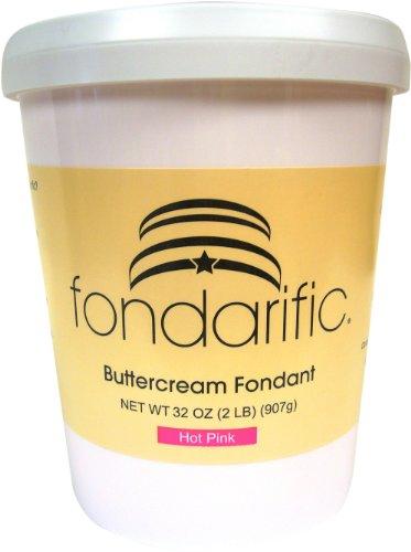 Fondarific Buttercream Hot Pink Fondant, 2-Pounds