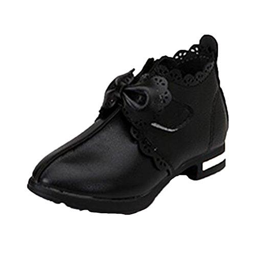 Freizeit Sandaletten Halbschuhe Ohmais Ballerinas Sandalette Sandalen Kleinkinder Mädchen Mädchen Kinder Schwarz flach wq8rxtX8
