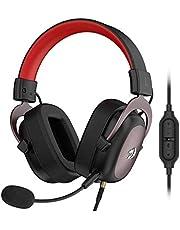 Buhui H510 trådbundet spelheadset för PC, PS4/3, X?? box One X, 7.1 Surrounds Sound Memory Foam örondyna med avtagbar mikrofon, justerbart headset passar dig bra