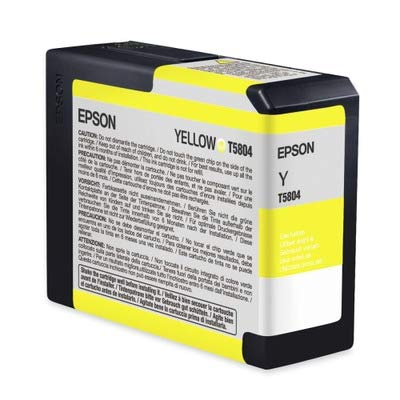Epson T5804 UltraChrome K3 Yellow Cartridge Ink