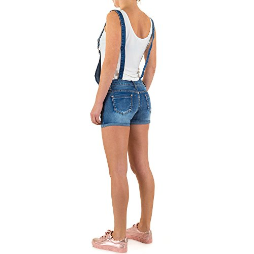 Destroyed Jeans Latz Shorts Für Damen , Blau In Gr. 38 bei Ital-Design