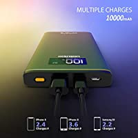 Amazon.com: Power Bank Cargador portátil Omars 10000mAh USB ...
