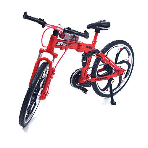 Ailejia Zinc Alloy Finger Mountain Bike Mini Bicycle Model Cool Boy Toy Decoration Crafts for Home (Red) by Ailejia
