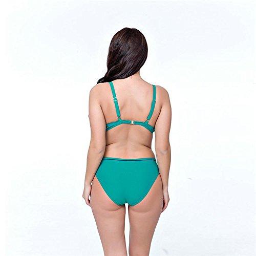 SHISHANG Bikiní de las señoras del traje de baño era de gran tamaño delgado Europa y el doble popular de hombro ajustable Estados Unidos con alta flexibilidad del medio ambiente Green