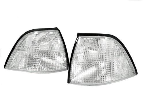 REVi MotorWerks Chrome Housing Front Corner Lights by DEPO Fit for 1992-1999 BMW E36 2D Coupe/Convertible