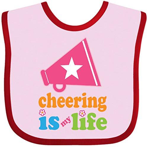 (Inktastic - Cheerleader Megaphone Cheerleading Team Baby Bib Pink and Red 2936a)