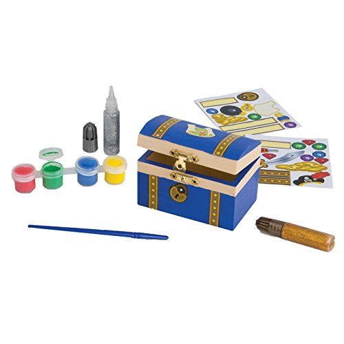 Melissa & Doug Decorate-Your-Own Wooden Pirate Chest Craft Kit