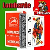 Lombarde Modiano Regional Italian Playing Cards. Authentic Italian Deck. Includes Free Scopa and Briscola Instructions in English.