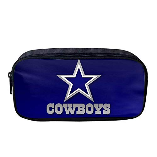 Pencil Case Large Capacity Pen Case, Pen Bag Office Pen Holder Organizer Stationery Bag Cosmetic Bag Apply to Girl Boys and Adults (Dallas Cowboys)