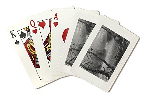 ontario-canada-view-of-the-banks-of-the-niagara-river-below-the-falls-playing-card-deck-52-card-poke