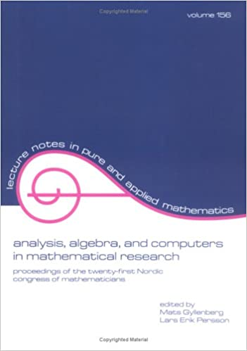 Download E-books Analysis: Algebra and Computers in Mathematical