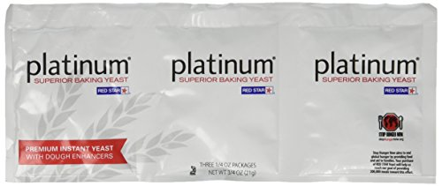 Platinum Superior Baking Yeast - 3 CT (Yeast Dry Star Red)