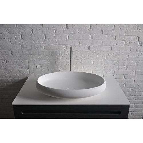 ID Ego Solid Surface Elongated Vessel Sink Bowl Above Counter Sink Lavatory by ID Bath Collection