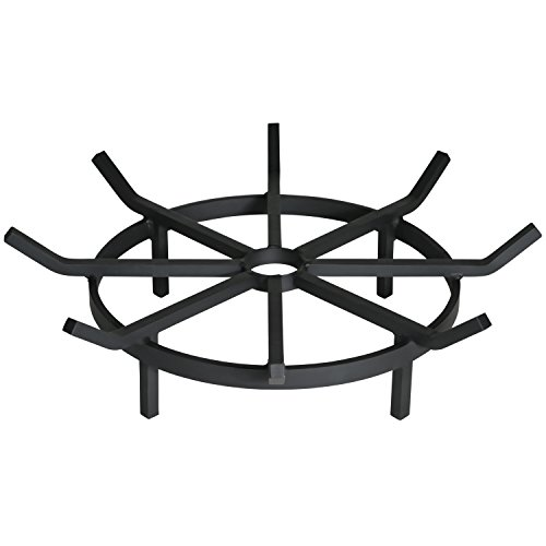 Heritage Products Heavy Duty Wagon Wheel Firewood Grate for Fire Pit - Made in the USA (24 (Heavy Duty Firewood)