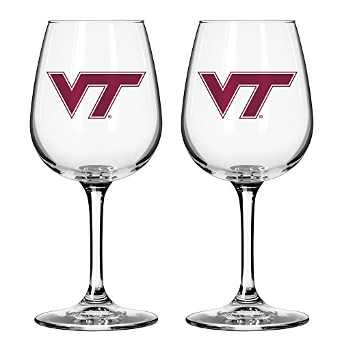 NCAA Virginia Tech Hokies Game Day Wine Glass, 12-ounce, 2-Pack