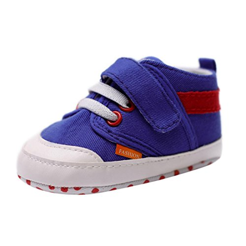 BZLine Baby Toddlers Soft Solid weiche Sohle Anti-Slip Sneakers Canvas Krippe Schuhe Blau