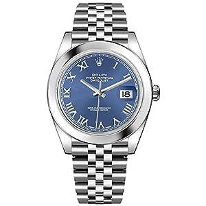 Best Epic Trends 41R5PnaYuOL._SS300_ Rolex Datejust 41 Blue Dial Jubilee Bracelet Men's Watch 126300