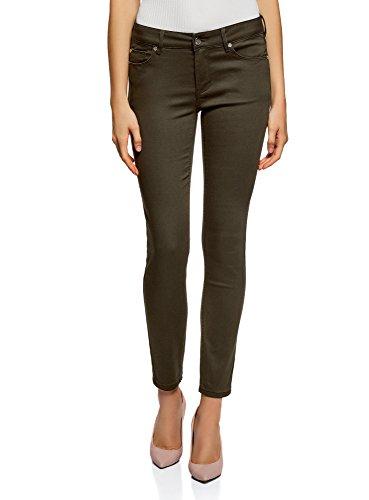 Mujer Pantalones Oodji Skinny Verde 6900n Básicos Ultra f411AO