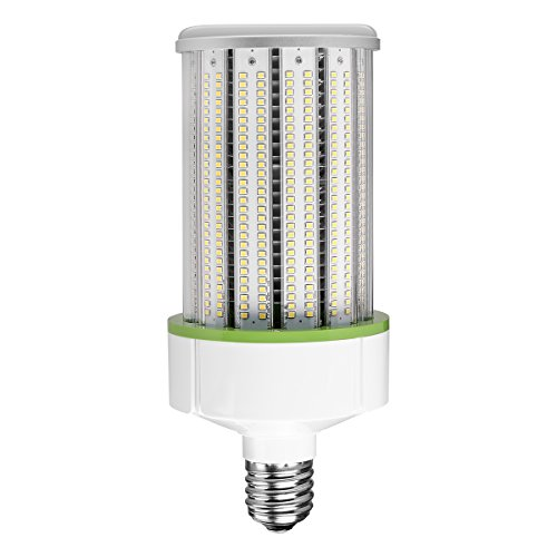 (LE E26 LED Corn Light Bulb, Medium Screw Base, 60W 7800 Lumen, 120W Fluorescent Bulb Equivalent, 5000K Daylight White, Waterproof, 360° Wide Beam Angle, for Outdoor, Garage, Warehouse and More)