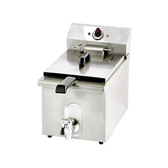 Freidora Eléctrica 10 litros banqueta profesional cm 34x60x42 RS1019: Amazon.es: Industria, empresas y ciencia