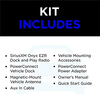 SiriusXM SXEZR1V1 Onyx EZR Satellite Radio with Vehicle Kit - Get 3 Months Free Service with Subscription: Car Electronics
