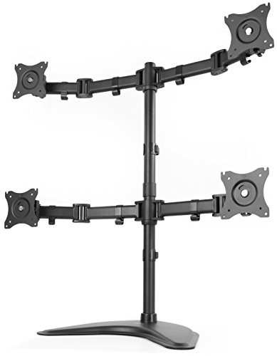 - VIVO Quad Monitor Mount Fully Adjustable Desk Free Stand for 4 LCD Screens up to 27