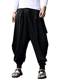Men's Floral Stretchy Waist Casual Ankle Length Pants