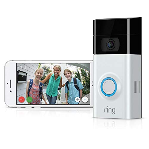 Ring Video Doorbell 2 1080P HD Wireless Security Camera with Night Vision and Installation Tools + 1 Year Warranty