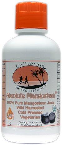 Absolute Mangosteen - Pure Organic Mangosteen Juice from CAOH® (1 - 17 oz Bottle) (Pure Organic Mangosteen Juice)