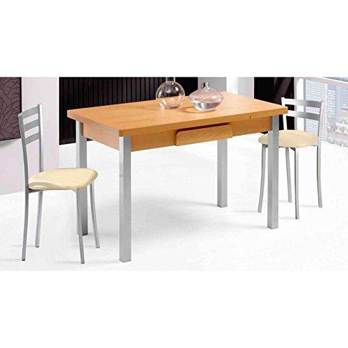 Amuebla 618. Mesa DE Cocina DE 100 X 60 CM. Extensible DE ALAS ...