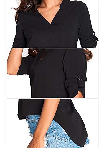 Otoño Casuales Larga Punto Fit Elástica Pullover Cuello Lana Invierno Battercake Cómodo Schwarz Jerseys Sweater Elegantes Slim Alto Mujer Sólido Mujeres Color Sudaderas Moda Manga qwf4PXF