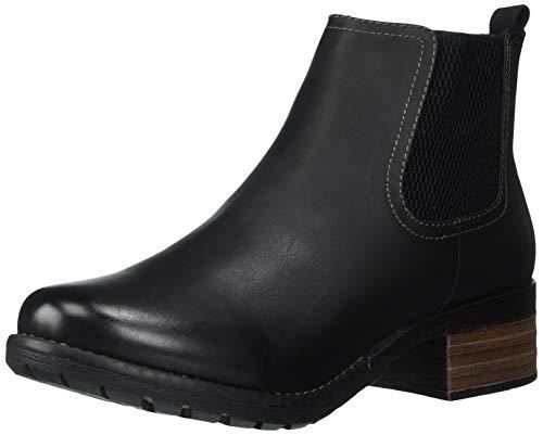 Eastland Women's Jasmine Chelsea Boot, Black, 9 Wide US