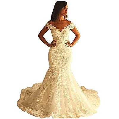 Udresses 2017 Mermaid Wedding Dresses Off Shoulder Womens Long Bridal Gowns UX030