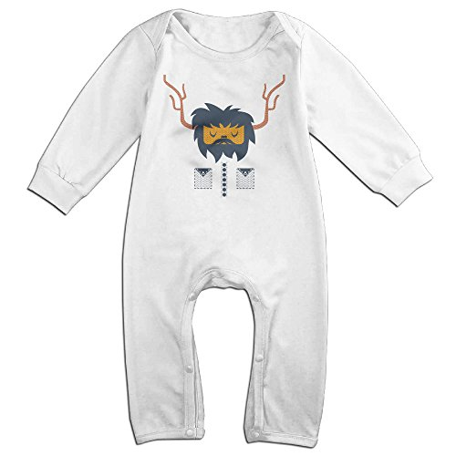 [Raymond Cambang Long Sleeve Jumpsuit Outfits White 18 Months] (Jim Carrey Cable Guy Costume)