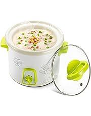 Keramische Voering van Rijstkoker, Wilecolly Babyvoeding Fornuis Keramische Voering Baby Supplement Pot 1L Elektrische Slow Cooker Pap Kookpot