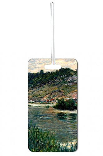 Artist Claude Monet's Landscape on a Porte Painting PrintDesign Lea Elliot Set of 5 Luggage Tags with Customizable (5 Piece Set Medium Arch)