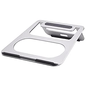 Tendak Aluminum Foldable and Adjustable Laptop Stand for iPad Pro/MacBook/Chromebook/Dell/Samsung/Lenovo/ASUS/HP/and More