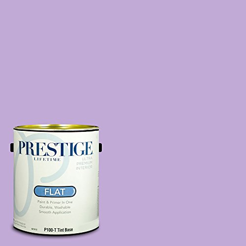 Prestige Paints P100-T-MQ4-59 Interior Paint and Primer in One, 1-Gallon, Flat, Comparable Match of Behr Purple Gladiola, 1 Gallon, B18-Purple