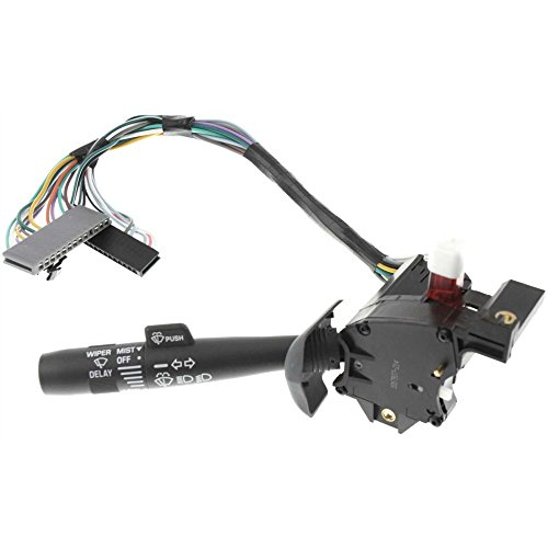 Evan-Fischer EVA16172016812 Turn Signal Switch for Chevrolet C/K Full Size Pickup 95-02 Also Controls High and Low Beam Dimmer Gmc C3500 Turn Signal