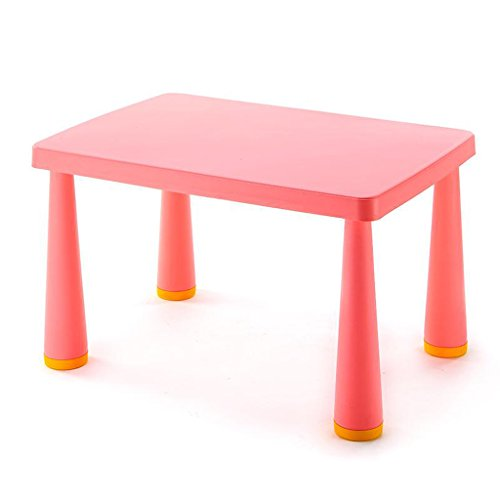 GFL Children's Table Padded Nursery Table Children's Tables Plastic Toy Desk Single Table Computer Tables (Color : Rose red) by GFL