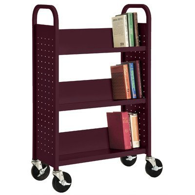- Sandusky Lee SL327-03 Single Sided Sloped Shelf Welded Bookcase, 14