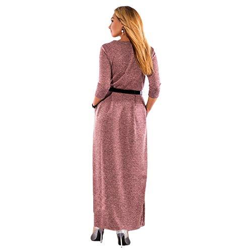 Largo Mujer Grande Tamaño Vestido Invierno Una Xmdnye l Línea Oficina Ropa De Mujer BP81Tnz