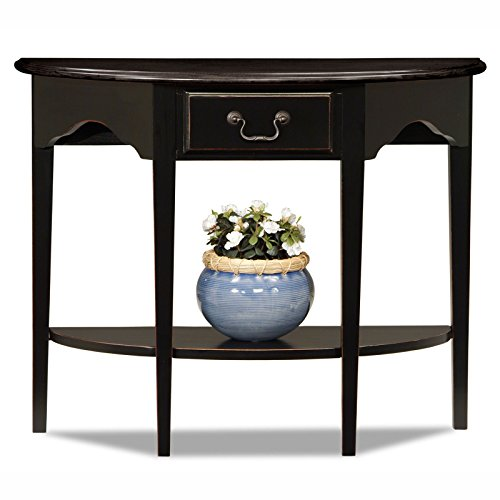 Elegantly Wood Wooden Console in Multiple Finishes with Solid Wood Drawer and Bottom Display Shelf, Made of Solid Wood Construction