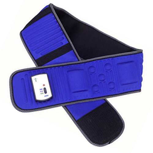 Waist Massage Belt,Jinon Electric Vibrating Slimming Belt Massage Rejection Fat Belt Heating Abdomen Massager Massage Waist Slimming Exercise Leg Belly Fat Burning