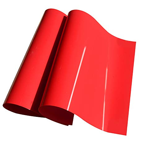 Heat Transfer Vinyl Red Iron On HTV Sheets 12 x20 for Tshirt,Clothing 2 Sheets