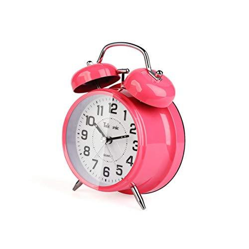 Youshangshipin Alarm Clock, Oversized Ringtone Digital Pointer Alarm Clock, Luminous Simple Bedside Tabletop Decoration (Black, 11.85.515.8cm) Sleek Minimalist Design (Color : Pink, Size : 3)